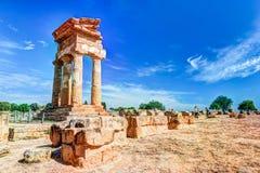 Agrigento, Sicily pollux rycynowa świątynia Obrazy Stock