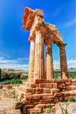 Agrigento, Sicily pollux rycynowa świątynia Fotografia Stock