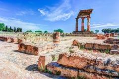 Agrigento, Sicily pollux rycynowa świątynia Zdjęcie Stock