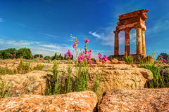 Agrigento, Sicily. Temple of Castor and Pollux Stock Image