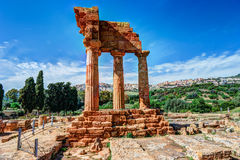 Agrigento, Sicily. Temple of Castor and Pollux Royalty Free Stock Image