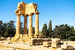 Agrigento, Sicily. Greeks temple of Italy. The ruins are the symbol of Agrigento city stock photos