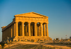 Agrigento sicily. Valley of the temples, temple of Concordia stock photos