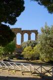 Agrigento, Sicily, Włochy, dolina świątynie Obraz Stock