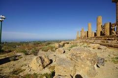Agrigento, Sicily, Włochy, dolina świątynie Zdjęcie Stock