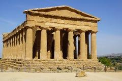 Agrigento, Sicily, Włochy, dolina świątynie Fotografia Royalty Free
