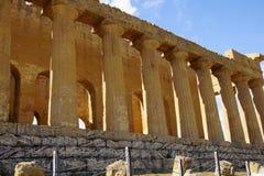 Agrigento, Sicily, Włochy, dolina świątynie Fotografia Stock