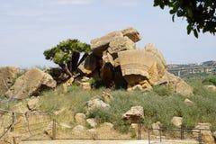 Agrigento, Sicily, Włochy, dolina świątynie Zdjęcia Royalty Free
