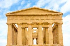 Agrigento, Sicily, Włochy Sławny Valle dei Templi Zdjęcie Stock