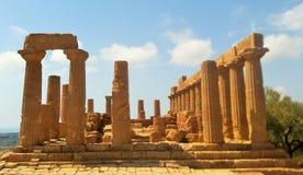 Agrigento tempel Arkivbilder