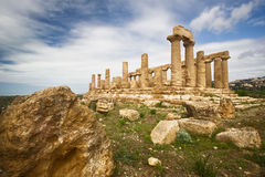 Agrigento, Tempel Juno Royalty-vrije Stock Foto's