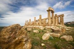 Agrigento, tempiale di Juno Fotografie Stock Libere da Diritti