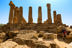 AGRIGENTO TEMPIO HERA Stock Photography