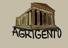 Agrigento temple Royalty Free Stock Image