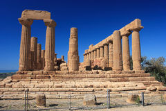Agrigento, Valley of the Temples. Valle dei Templi in Agrigento Sicily Stock Photography
