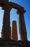 Agrigento, Valley of the Temples. Valle dei Templi in Agrigento Sicily Royalty Free Stock Image