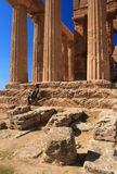 Agrigento, Valley of the Temples. Valle dei Templi in Agrigento Sicily Stock Image