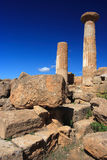 Agrigento, Valley of the Temples. Valle dei Templi in Agrigento Sicily Royalty Free Stock Photo