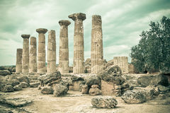 Agrigento, Valley of Temples Royalty Free Stock Photo