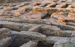 Agrigento Wczesny Chrześcijański Necropolis Obrazy Stock