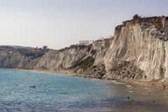 Agrigento wybrzeża linia, Sicily Zdjęcia Stock