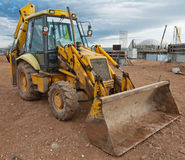 Agrimotor. At a construction site Stock Photography
