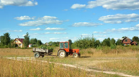 Agrimotor on meadow Royalty Free Stock Images