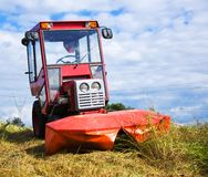 Agrimotor on meadow Royalty Free Stock Photos