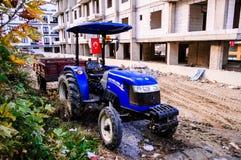 Agrimotor Parked Next To Sidewalk Stock Images