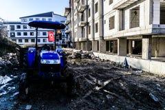 Agrimotor Parkował Na budowie Zdjęcia Royalty Free