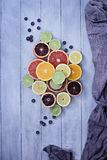 Agrios y arándanos Fotografía de archivo