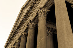 Agripa柱子万神殿  免版税图库摄影