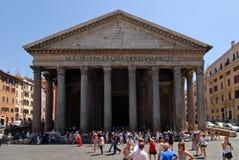 Agrippa万神殿在罗马在天之前 免版税库存图片