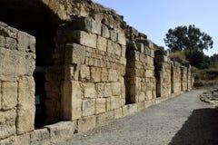 Agrippa pałac ruiny, Izrael Obrazy Stock