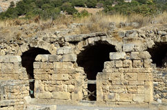 Agrippa pałac ruiny, Izrael Obrazy Royalty Free