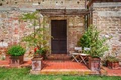 Agritourism w Tuscany pięknym słonecznym dniu Zdjęcia Stock
