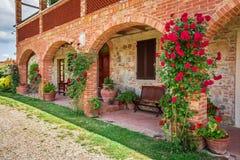 Agritourism w Tuscany pięknym słonecznym dniu Obraz Royalty Free