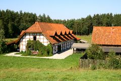 Agritouristic farm in Warmia and Masuria district Royalty Free Stock Photography