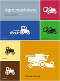 Agro machinery icons Stock Photo