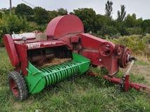 Agro maszyneria żniwiarz Zdjęcia Royalty Free