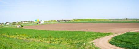 Agro pole w Serbia, blisko autostrady Obraz Stock