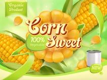 Agro-traitement de l'industrie 3d vecteur, design d'emballage Photo stock