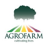 Agrofarmembleem Het cultiveren van het leven royalty-vrije stock afbeelding