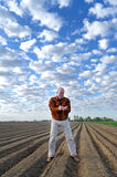 Agronomist on the field. Stock Photos
