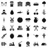 Agronomy icons set, simple style Royalty Free Stock Photos