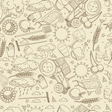 Agronomy seamless retro vector illustration Royalty Free Stock Photo