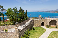 Agropoli Castello Angioino aragonese un Salerno immagine stock libera da diritti