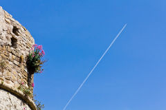 Agropoli Castello Angioino aragonese un Salerno fotografia stock libera da diritti