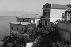 Agropoli, homes. Houses on the coast of Cilento Royalty Free Stock Photography