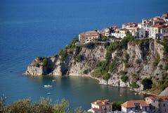 Agropoli miasto od Cilento wybrzeża Włochy fotografia royalty free